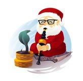Snake Charmer Santa Claus Royalty Free Stock Photos
