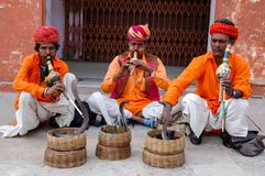 Snake charmers Stock Photo