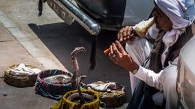 Snake Charming, Delhi, India Royalty Free Stock Photos