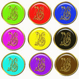 Snake chinese horoscope buttons Stock Photo