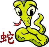 Snake chinese zodiac horoscope sign Stock Image