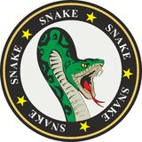 Snake coat of arms Royalty Free Stock Photo