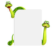 Snake collection with white board Stock Photo