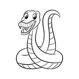 Snake coloring book. Royalty Free Stock Photography