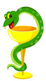 Snake on cup sign Stock Images