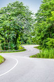 Snake curved road Royalty Free Stock Image
