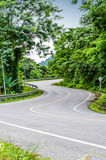 Snake curved road Stock Photo