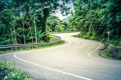 Snake curved road Royalty Free Stock Photo