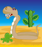 Snake in desert Stock Photography