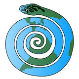 Snake and Earth 2013. Earth moves in the year of Snake 2013 stock illustration
