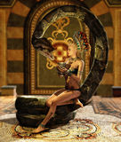 The Snake Enchantress 3d CG Royalty Free Stock Images