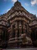 Snake eye shot kailasanadhar temple Stock Image