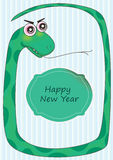 Snake Frame Happy New Year_eps Stock Photo