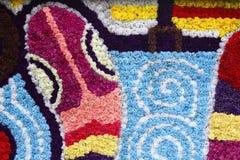 Snake flower mosaic Stock Image