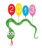 Snake flying balloons 2013 Stock Photography