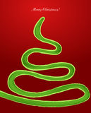 Snake in the form of a Christmas tree. Vector Stock Photography