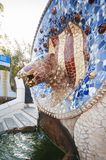 Snake Fountain at Parc Guell, Barcelona, Spain, September 2016. Snake Fountain at Parc Guell in Barcelona, Spain, September 2016 Royalty Free Stock Image