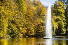 The Snake fountain in Sofiyivsky Park in autumn Stock Photos