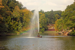 The Snake fountain. Sofiyivsky Park Royalty Free Stock Image