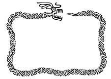 Snake frame, design element Royalty Free Stock Images