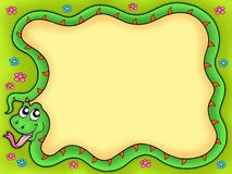 Snake frame with flowers 1 Stock Photography