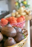 Snake fruit in basket Royalty Free Stock Photos