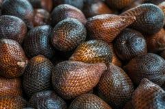 Snake fruits. A shot of snake fruits taken at a local market in Bintulu, Sarawak Malaysia Stock Photography