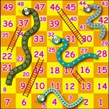 Snake game. One of children favorites games royalty free illustration