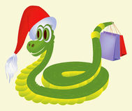 Snake with gifts Royalty Free Stock Photography