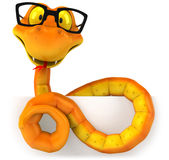 Snake with glasses Royalty Free Stock Photography