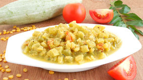 Snake Gourd Curry Stock Photo