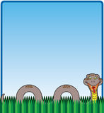 Snake in the Grass. Happy, smiling cartoon snake in the grass Royalty Free Stock Images