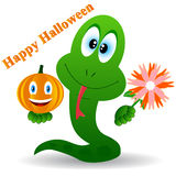 Snake in a Halloween Royalty Free Stock Photography