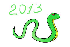 Snake. Happy new year Royalty Free Stock Photo