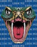 Snake head illustration Stock Photography