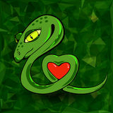 Snake and Heart Stock Images