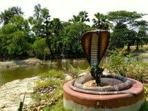 Snake Idol in rural India. Royalty Free Stock Photo