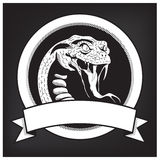 Snake Illustration Emblem Royalty Free Stock Photo