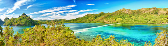 Snake island panorama stock photography