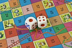 Snake Ladder Dice Royalty Free Stock Photo