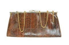 Snake leather fashion handbag Stock Photo
