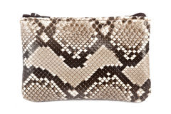 Snake leather purse Stock Photo