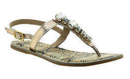 Snake leather sandal Royalty Free Stock Photography