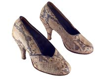 Snake leather shoes Stock Photography