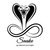 Snake logo Royalty Free Stock Image