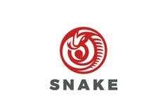 Snake Logo circle shape design vector.. Snake Logo circle shape design vector template Stock Photos