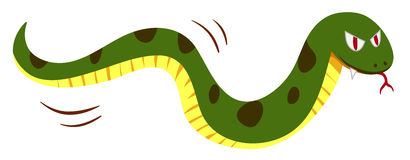 Snake with monster face Stock Images