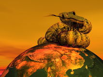 Snake New Chinese year -3D render Royalty Free Stock Image