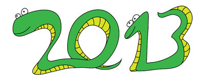Snake New Year 2013 Royalty Free Stock Photo