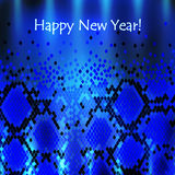 Snake New Year Background Royalty Free Stock Photos